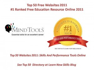 Mind Tools # 1 Winner Overall Top 50 Free Websites 2011 Skills And Performance Tools