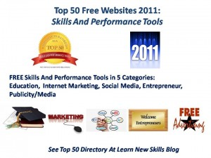 Top 50 Free Websites 2011 Skills And Performance Tools