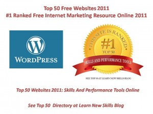 Wordpress Top 50 Free Websites 2011 Skills ANd Perfromance Tools